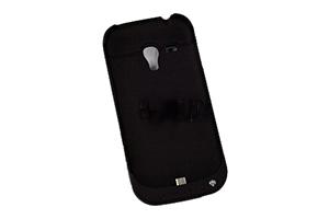 Дополнительная АКБ защитная крышка для Samsung i8190 (SGSIII mini) 2000mA (черный)