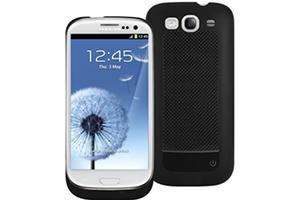 """Дополнительная АКБ защитная крышка для Samsung i9300 """"Backup Power"""" 2400mA (черный целиком)"""