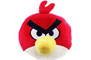 """Колонка """"Wrathful Birds"""" Красная Птица"""" мягкая игрушка  (3,5 мм. питание от 2 х АА) (коробка)"""