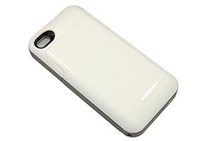 """Доп. АКБ защитная крышка для iPhone 4/4S """"Mophie"""" 2000mAh (белый/серый)"""