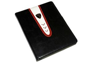 """Чехол/книжка для iPad 2/3/4 """"Lamborghini"""" раскладной кожа (черный)"""