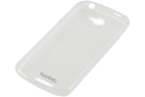 Силиконовый чехол для HTC one s TPU Case (белый прозрачный)