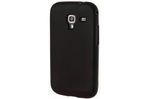 Силиконовый чехол для Samsung i8160 TPU Case (черный матовый)