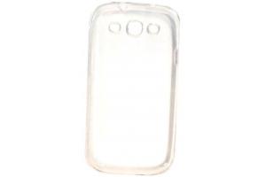 Силиконовый чехол для Samsung i9300 Galaxy SIII TPU Case (белый прозрачный)