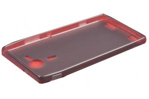 Силиконовый чехол для Sony Xperia tipo TPU Case (черный матовый)