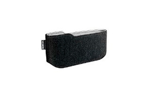 Футляр iPhone 13,5*8 см CP-322 черный нубук (упаковка пакетик)