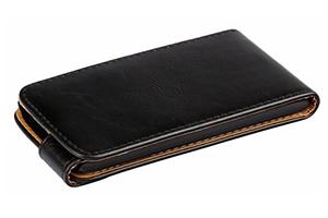 Чехол для Lenovo IdeaPhone S820 раскладной (кожа/черный)