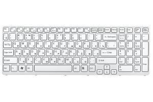 Клавиатура для Sony Vaio VPC-EE с рамкой (белая)