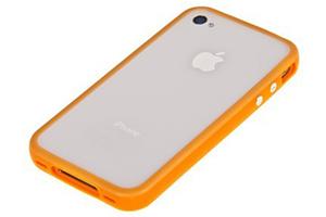 """Чехол/накладка """"LP"""" Bumpers для iPhone 4/4S (оранжевый/желтый)"""