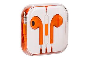 Наушники для iPhone 5/iPad mini/iPad и совместимые (желтые/коробка)
