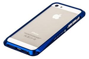 Bumper CLEAVE для iPhone 5 металл/винты (синий)