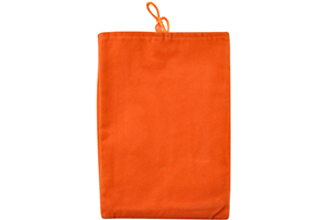 """Кисет универсальный вертикальный 7"""" (бархат/оранжевый) 14x23 см"""
