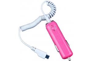 """АЗУ """"In Car Charger"""" 1000мА (Micro USB) (розовый/коробка)"""