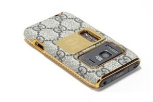 Защитная крышка для Nokia N8 Gucci (Серый) (упаковка прозрачный бокс)