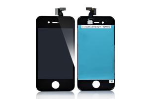Дисплей LCD iPhone 4S с тачскрином  (A) 1-я категория (черный)