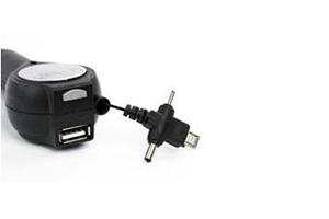"АЗУ ""LP"" 4 в 1 (USB/microUSB/Nokia 2.0/Nokia 3.5 + провод рулетка)"