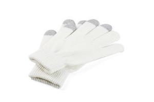 "Перчатки ""LP"" для сенсорных экранов Белые/3 пальца/M (9001)"