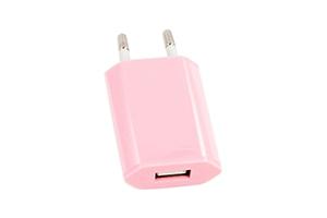 """СЗУ """"LP"""" с USB выходом 1А (розовый/европакет)"""