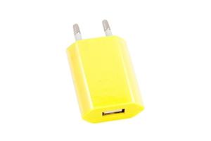 """СЗУ """"LP"""" с USB выходом 1А (желтый/европакет)"""