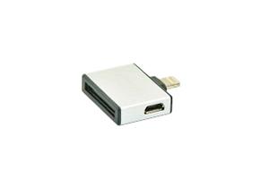 Переходник 3 в 1 для Apple с 30 pin/micro USB/mini USB на 8 pin lighting (белый/коробка)