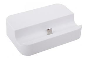 Стакан зарядки Micro USB Dock для Samsung и совместимые (белый/коробка)
