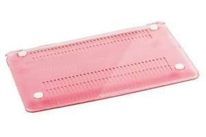 """Пластиковая защита для Macbook Pro Retina 13,3"""" матовая розовая (коробка)"""