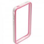 Bumpers для iPhone 4/4S (белый/розовый)