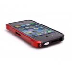 Bumper VAPOR для iPhone 4/4S металл (черный/красный)