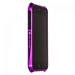 Bumper CLEAVE для iPhone 5 металл/винты (фиолетовый)