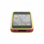 Bumpers для iPhone 4/4S (розовый/желтый)