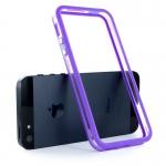 Bumpers для iPhone 4/4S (прозрачный/сиреневый)