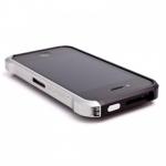 Bumper VAPOR для iPhone 4/4S металл (черный/серебро)