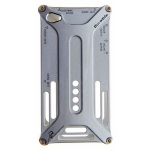 Bumper-case DURABLE для iPhone 4/4S металл (серый)