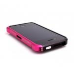 Bumper Element Vapor Pro Ops для iPhone 4/4S металл черный/розовый (чехол+наклейка)