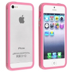 Bumpers для iPhone 4/4S (прозрачный/розовый)